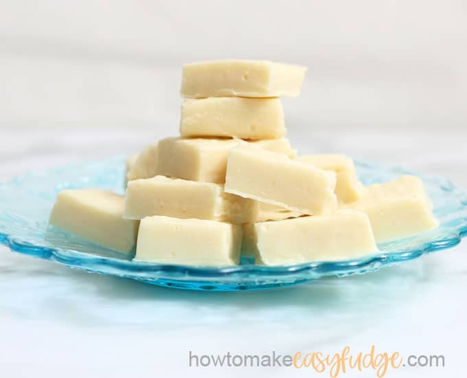 Vanilla Fudge Easy 4 Ingredient Microwave Vanilla Fudge Recipe