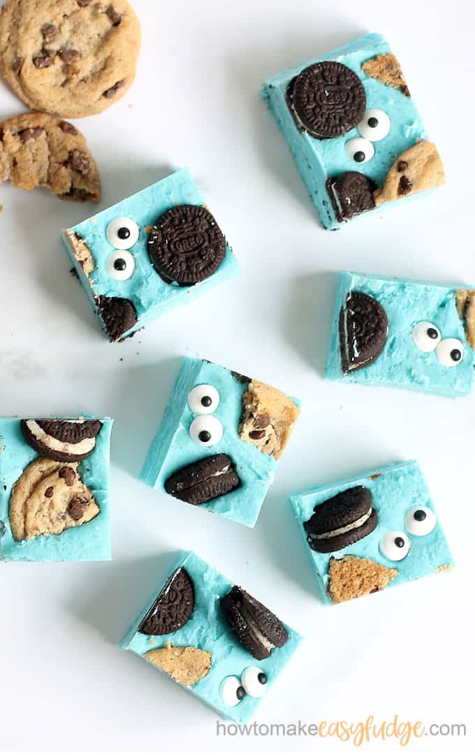 cookie monster fudge overhead image