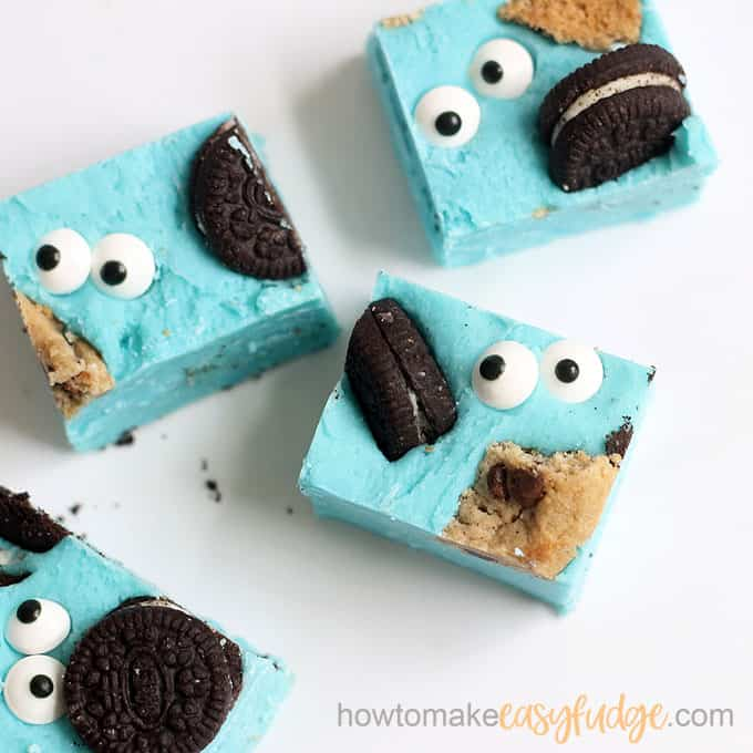 cookie monster fudge image