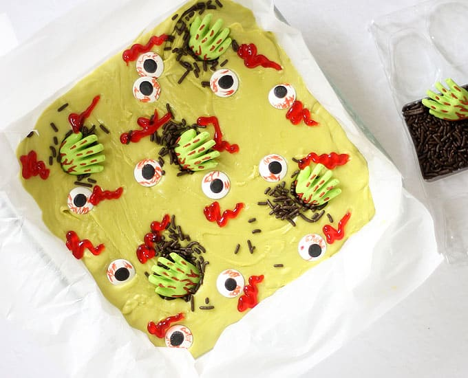 zombie fudge in baking pan image