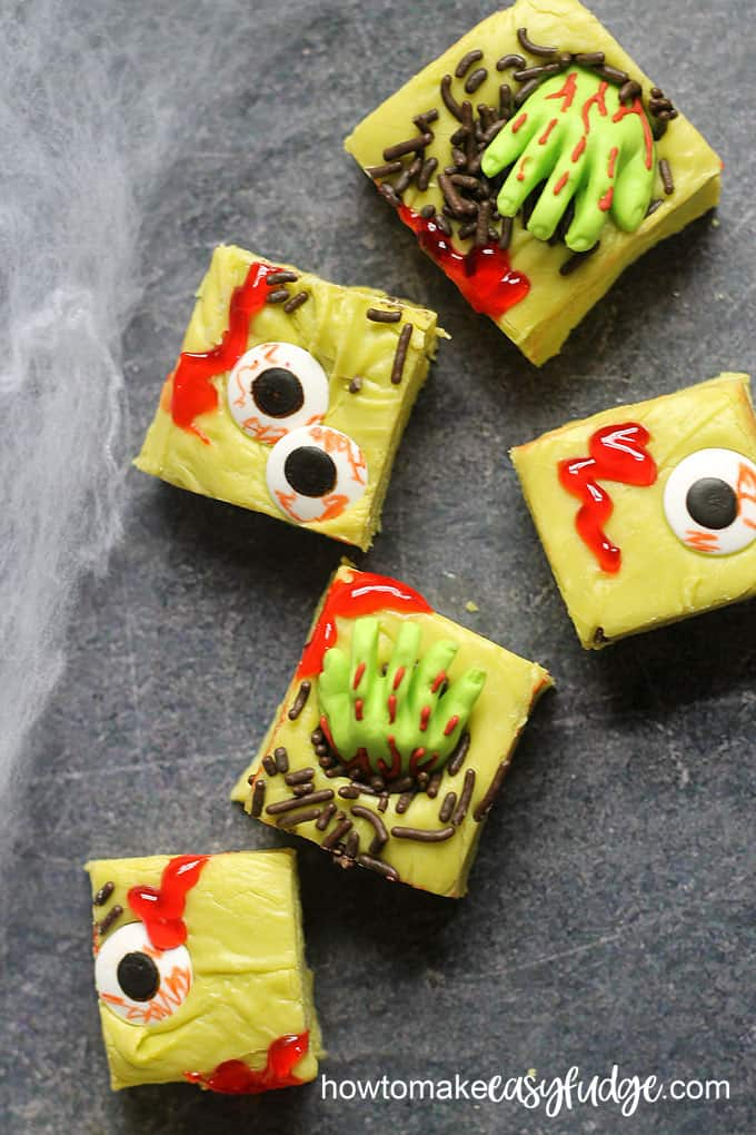 zombie fudge for Halloween overhead photo