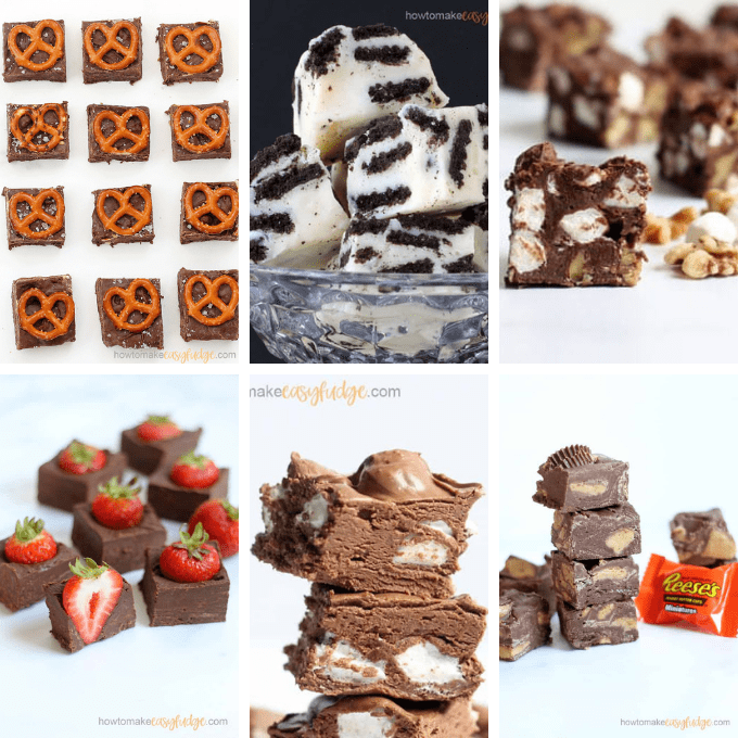 roundup of fun fudge with mix-ins