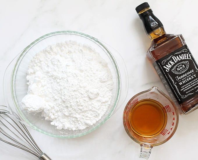 ingredients to make Jack Daniels fudge