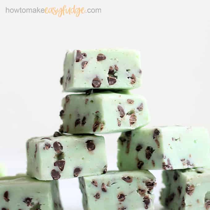 stacked mint chocolate chip fudge recipe
