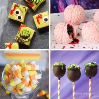 A roundup off 10 awesome fudge recipes for Halloween