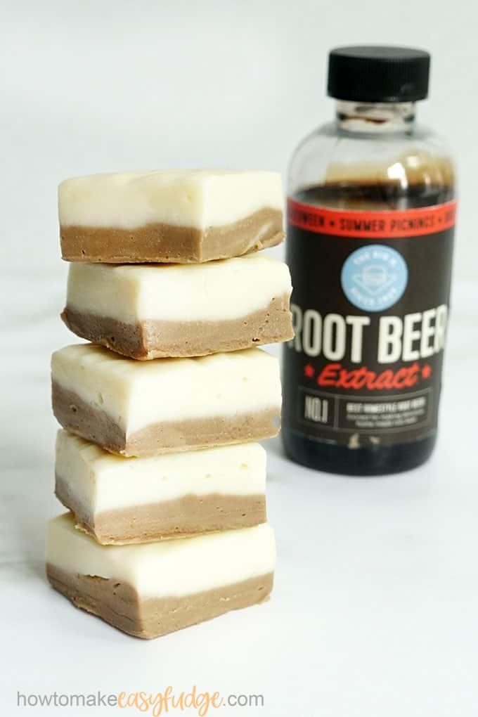 root beer fudge with root beer extract