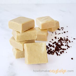 stack of coffee fudge
