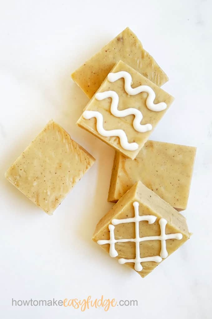 gingerbread fudge for Christmas