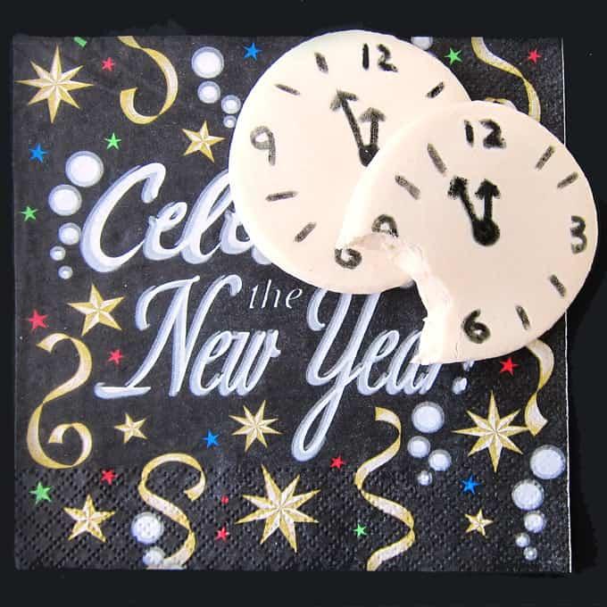 celebrate the New Year with white chocolate fudge countdown clocks.